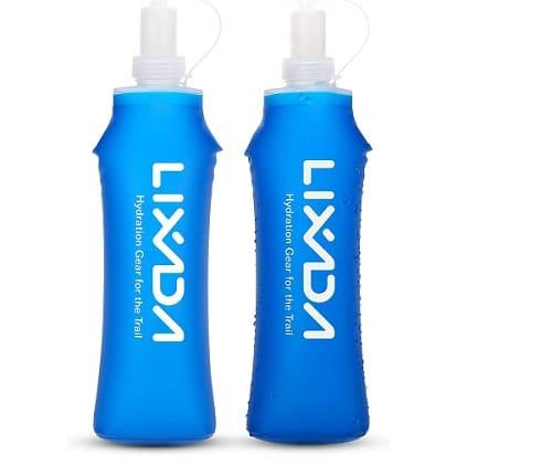 Botella de calabaza flexible y plegable para el senderismo
