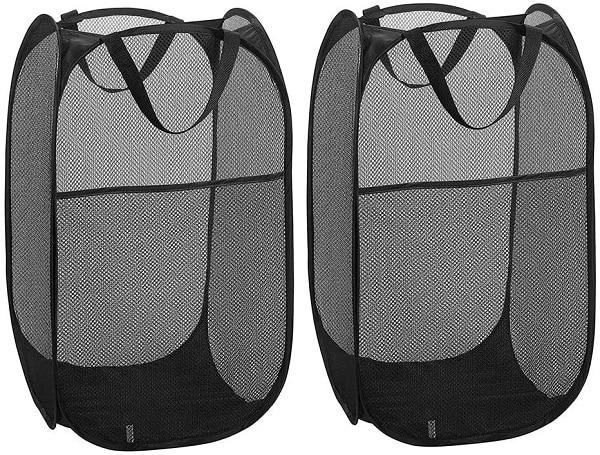 Cesta de la ropa plegable y transportable - paquete de 2
