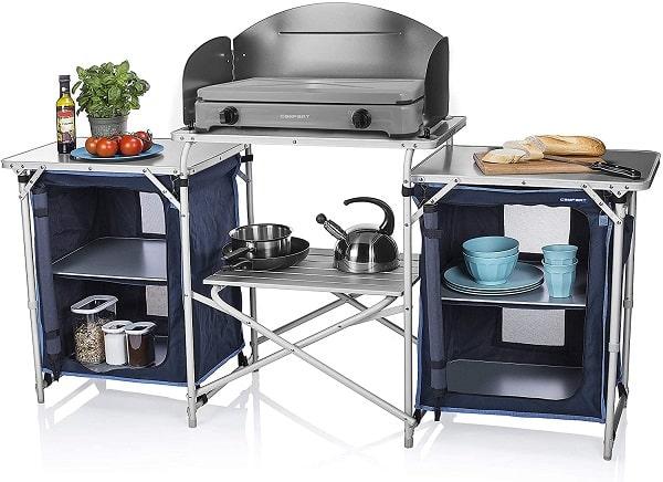 Grandes muebles de cocina para el camping