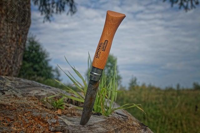 un cuchillo Opinel