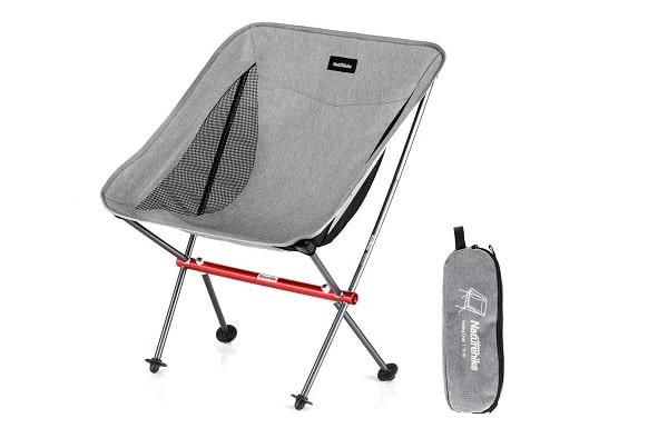 Silla de camping portátil con altura ajustable