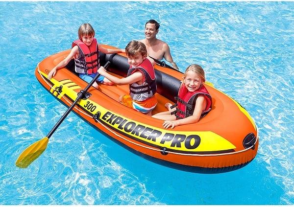 Barca de playa hinchable - 2 plazas y remos