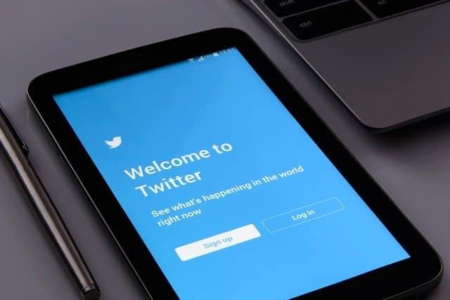 écran d'accueil twitter