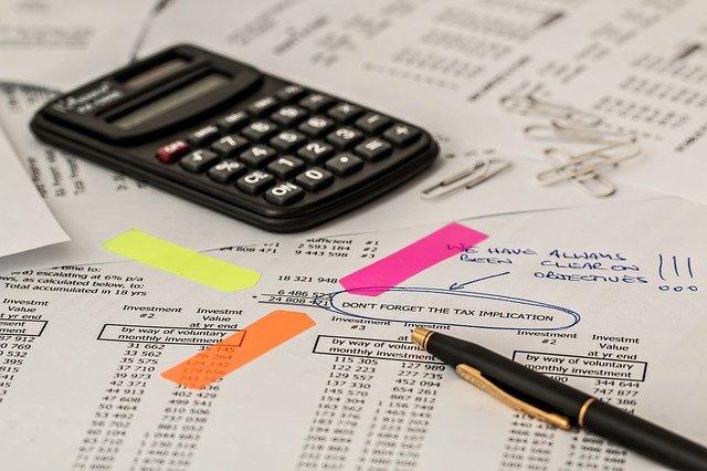 calculatrice d'un comptable
